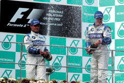 Champagne for Ralf Schumacher and Juan Pablo Montoya