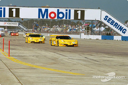 The two Team Corvette Chevrolet Corvette C5-R