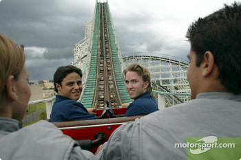 Visit at Hopi Haris Park: Felipe Massa and Nick Heidfeld