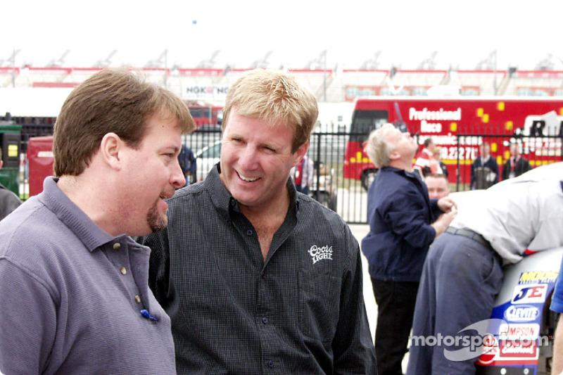 Sterling Marlin in the Busch garage