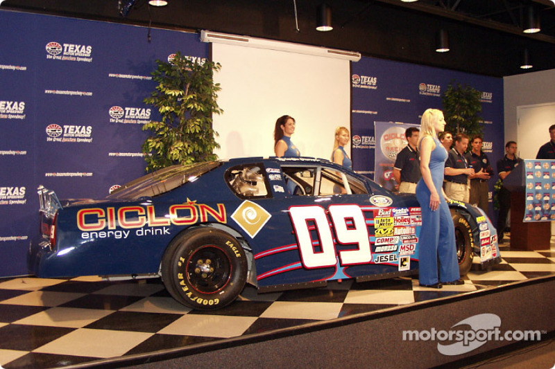 The CICLON Busch car; Hispanic owned, sponsored, and driven