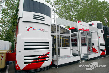 Another new motorhome at Imola: the Panasonic Toyota Racing Motorhome
