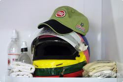 Jacques Villeneuve's helmet