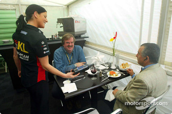 Team Minardi hospitality area
