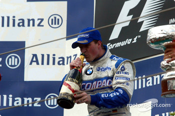 The podium: champagne for Ralf Schumacher