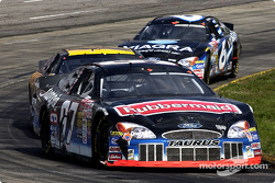 A trio of Roush Racing Fords as Kurt Busch leads Matt Kenseth and Mark Martin