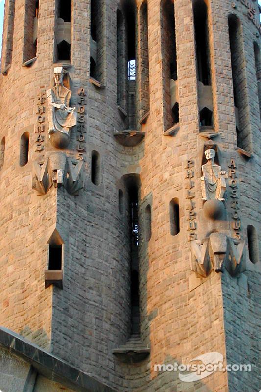 The famous Sagrada Familia cathedral of Antonio Gaudi