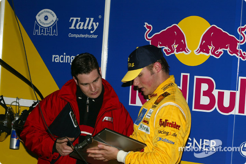 Martin Tomczyk and race engineer Franco Chiocchetti