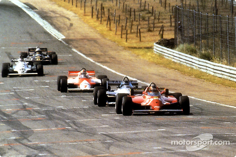 During 70 laps, they all tried to push Gilles Villeneuve at fault and pass him; they never could and Gilles went on to win his 6th and last Grand Prix