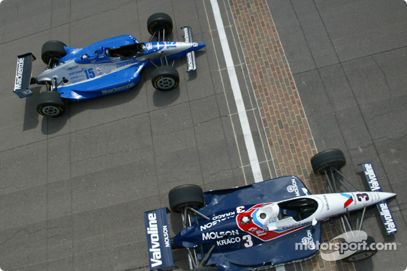 Al Unser Jr. and Scott Goodyear who were involved in the closest finish ever at the Indy 500 in 2004