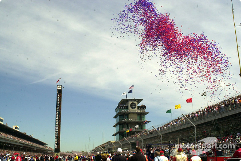 A flock balloons escape imprisonment