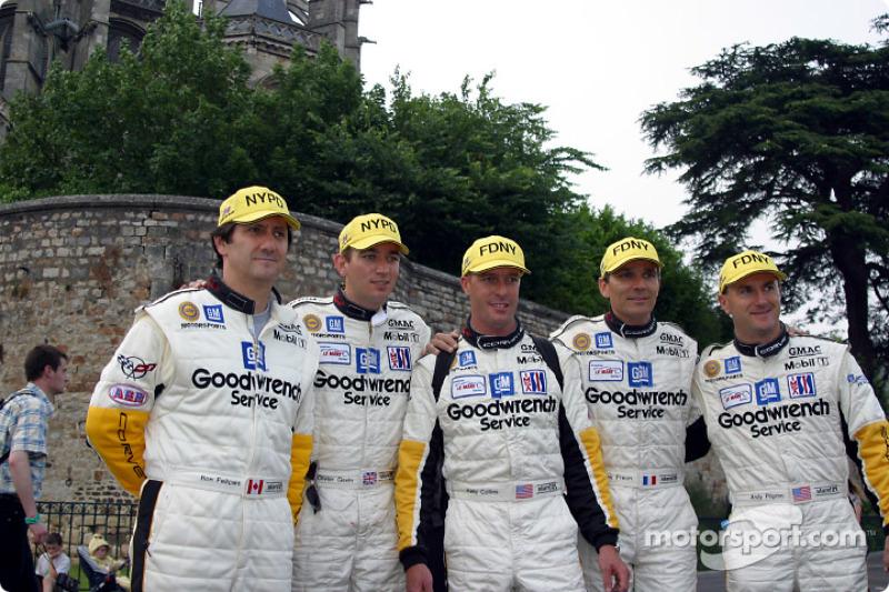 Ron Fellows, Oliver Gavin, Kelly Collins, Franck FrŽon and Andy Pilgrim