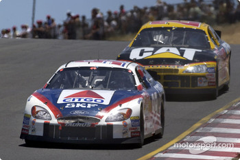 Jeff Burton leading brother Ward