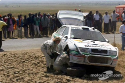 Kenneth Eriksson out of the rally