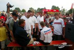 Autograph session for Allan McNish