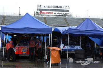 The garage area as rain washed out Friday's schedule for both Winston Cup and Busch Series