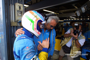 Flavio Briatore and Jarno Trulli