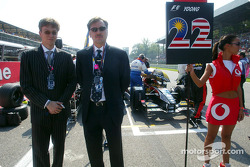 Guests from Asiatech on the starting grid