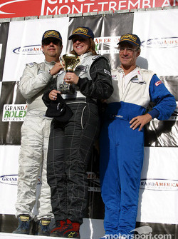 The podium: GTS winners John Morton, Christine Perot and Michael Schrom