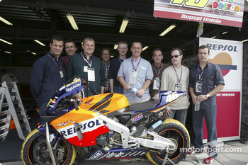 Olivier Panis visits Twin Ring Motegi