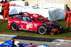 Serious damage on the XL Racing Ferrari 550 Maranello