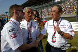 Allan McNish and Mr Fujio Cho
