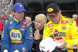 Michael Waltrip, Bobby Hamilton and Steve Park