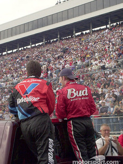 Johnny Benson and Dale Earnhardt Jr., parade lap