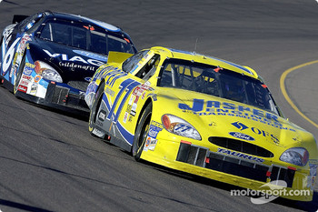 Dave Blaney leads Mark Martin