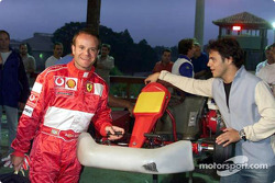 Rubens Barrichello and Felipe Massa