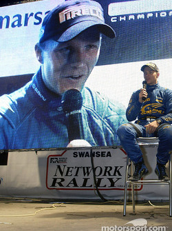 Petter Solberg at the press conference after Leg two
