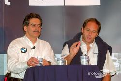 Gerhard Berger and Dr. Mario Theissen (BMW Motorsport Directors) at the press conference