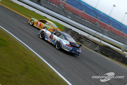 #15 TPC Racing Porsche 996: James Haggerty, John Beaver and #81 G&W Motorsports Porsche GT3 Cup: Brent Martini, Cort Wagner