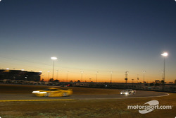 Early morning race action