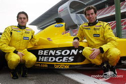 Giancarlo Fisichella and Ralph Firman with the Jordan EJ13