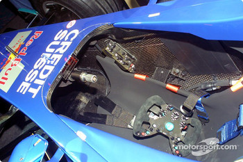 Cockpit of the new Sauber Petronas C22