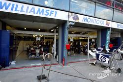 Williams pit area