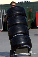 Stack of Michelin tires