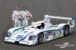 The drivers of the Team ADT Champion Racing for the 2003 Le Mans 24 Hour race:  J.J. Lehto and Emanuele Pirro