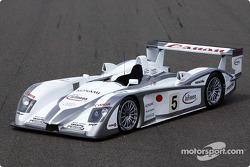 The Audi R8 of the Audi Sport Japan Team Goh for the 2003 Le Mans 24 Hour race