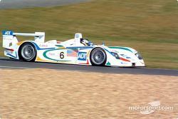 Stefan Johansson in the Audi R8 of the Team ADT Champion Racing
