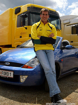 Ralph Firman poses with a Ford StreetKa