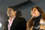 Thiago Medeiros and Karen Kanaan