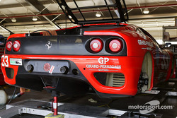 #33 Scuderia Ferrari of Washington in the garage.