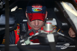 Jeff Gordon prepares to shake down his DuPont Chevrolet for Juan Pablo Montoya