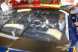 Juan Pablo Montoya gets used to his new workspace