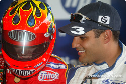 Jeff Gordon, left, and Juan Pablo Montoya