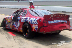 Rick Carelli's damaged car