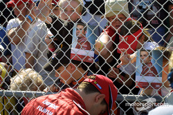 Casey Mears signs autographs