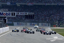 The start: Juan Pablo Montoya takes the lead
